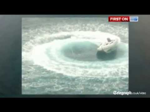 Man rescued at sea as boat spins out of control