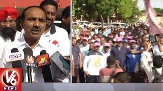 Finance Minister Etela Rajender Flags Off Olympic Day Run 2018 In Karimnagar
