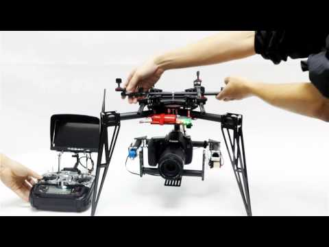 Lensman-x Camera 3-axis Gimbal For Dji S800 And Streak 800  1000 Multicopters video