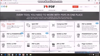 how to Merge and Split PDF files