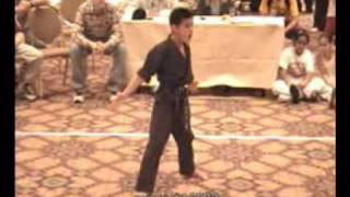 Taylor Lautner - Sport Karate / Martial Arts Tricking - age 11 (2003 World Series of Martial Arts)