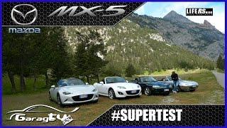 SUPERTEST   Mazda MX-5 - le 4 generazioni a confronto