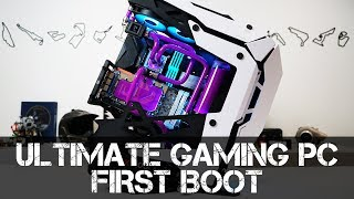 Ultimate Gaming PC Build - Part 6 - Filling with Coolant & First Boot