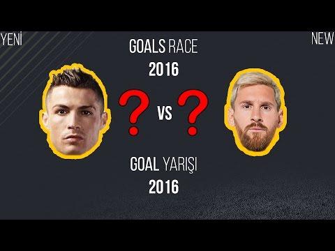 Cristiano Ronaldo vs Lionel Messi   Gol Yarışı, Tüm Goller   2016 • HD