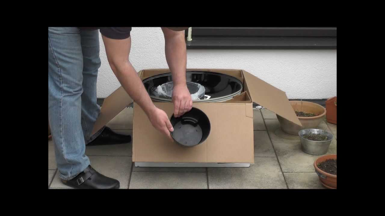 Weber grill one touch master touch 57 gbs unboxing youtube - Weber master touch 57 ...