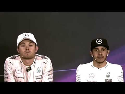 ROSBERG vs HAMILTON - Post race interview - F1 GP china 2015