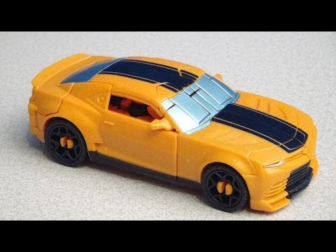 TRANSFORMERS 4 BUMBLEBEE POWER PUNCH AGE OF EXTINCTION DELUXE VIDEO TOY REVIEW