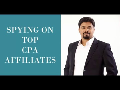 spying on top cpa affiliates