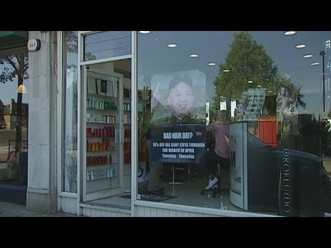 Bad Hair Day? London barber ad mocks Kim Jong-un