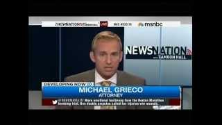video Michael Grieco, Miami Criminal Trial Attorney and Defense Lawyer Discussing the trial of the Boston Marathon Bomber on MSNBC's NewsNation on March 10, 2015.