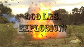 SEG Suppressors Record Breaking Reactive Exploding Target - RV Explosion - 400LBS of Tannerite!!!