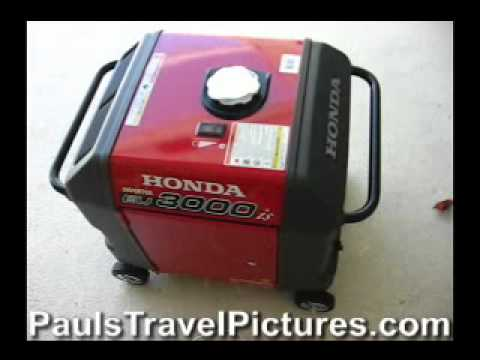 Honda EU3000is Super Quiet Generator Review Video