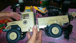 RC Truck WPL 4x4 1/16: Xe điều khiển quân sự 2cầu(4x4) hót trên thị trường