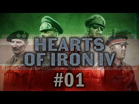 Hearts of Iron IV #01 Persia Rising, Iran [with Poll] - Let's Play
