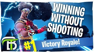 WINNING WITHOUT SHOOTING?! (Fortnite Battle Royale)
