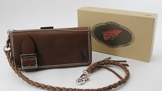 New RED WING 960-2009 Olive Boots Leather Long 6 Pockets Wallet Japan  88234