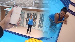 ANGRY BOYFRIEND THROWS IPHONE X IN THE POOL!!! 😳😂 PRANK GONE VERY WRONG!!! (REVENGE PRANK)