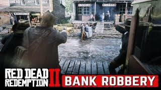 Bank Robbery Mission in Red Dead Redemption 2 Walkthrough (4K)