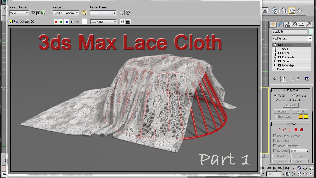 3ds max lace cloth tutorial youtube for 3ds max step by step tutorials for beginners