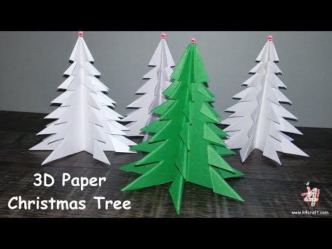 How to Make 3D Paper Christmas Tree 🎄 3D Xmas Tree DIY Tutorial