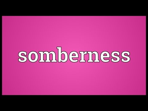 Header of somberness