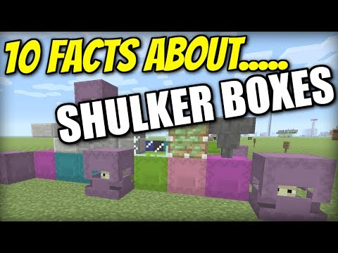 Minecraft PS4 - 10 SHULKER BOX FACTS - TUTORIAL - PE / Xbox / PS3 / Wii U