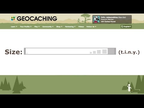 Geocaching Presents: A T.I.N.Y New Geocache Size