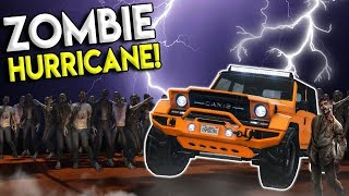 MASSIVE HURRICANE IN THE  ZOMBIE APOCALYPSE! - GTA 5 Mod Gameplay - Zombie Multiplayer Roleplay