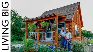 True Off-Grid Homesteading in A Pioneer Style Cabin