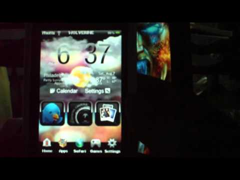 HTC HD2 Theme w/Animated Weather & Plug-ins iPod Touch