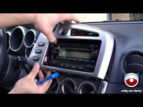 Radio Removal Toyota Matrix 2005 -2008