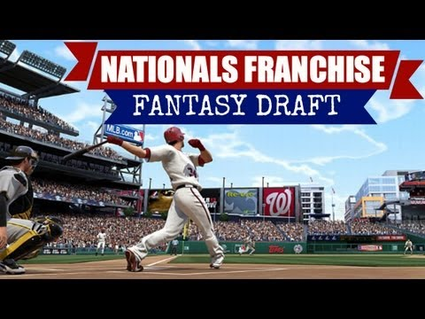 MLB 13 The Show: Nationals Franchise (Fantasy Draft) vs Rockies by JunkGamingVideos