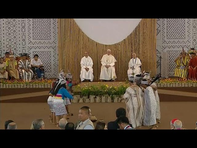 Pope defends native Amazonian peoples