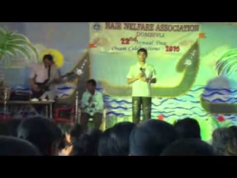 Rajath Menon  Film : Sargam  Song : Pravahame at Nair Welfare...