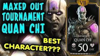 MAXED OUT Tournament Quan Chi in MKX Mobile 1.12. GAMEPLAY and REVIEW. HE