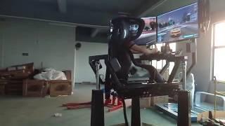 720 degree rotating Driving simulator with car racing arcade game