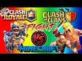 Lagu CLASH ROYALE vs CLASH OF CLANS - Minecraft Şans Blokları!!