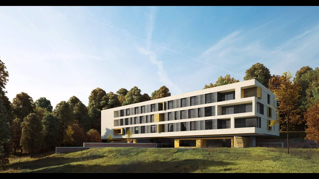 Architectural visualisation post production Nursing home architecture