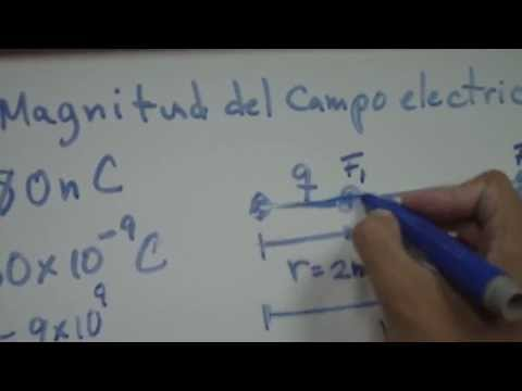 Fisica Magnitud de campo electrico