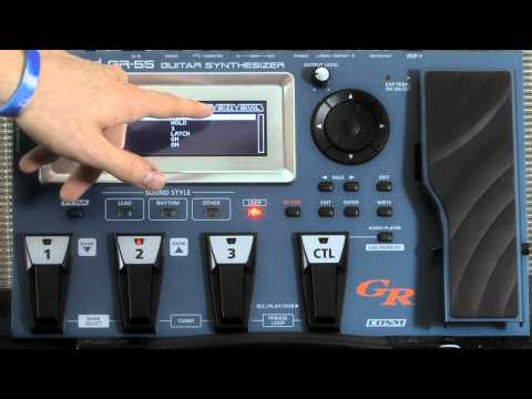 Roland GR-55 Patch Edit Tutorial Part 2 : Model Guitar Effects
