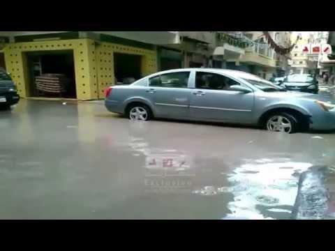 رصد   غرب الاسكندرية تغرق فى مياة الامطار والصرف الصحى