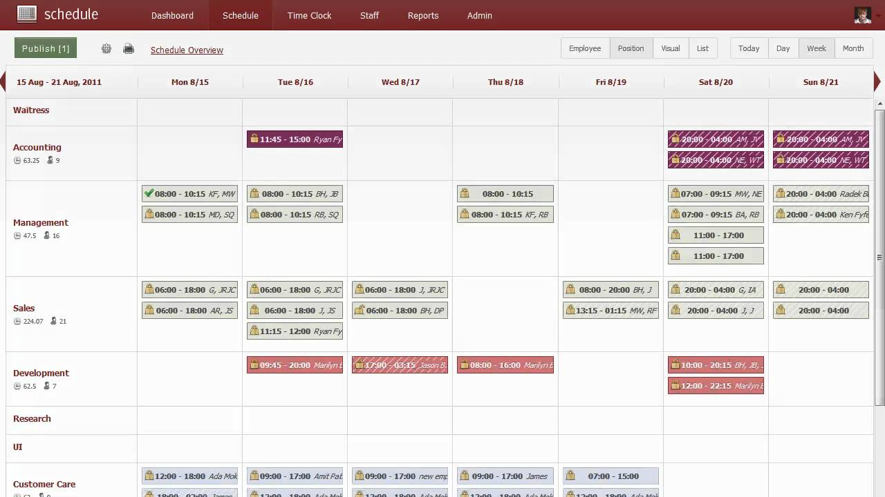 Shiftplanning employee scheduling software overview for Www workforcescheduling com jewelry tv