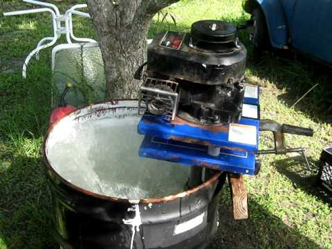 Homemade Boat Motor With Briggs And Straton Engine Youtube