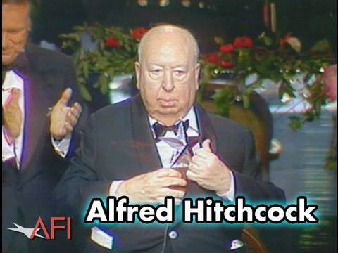 Alfred Hitchcock Accepts AFI Life Achievement Award