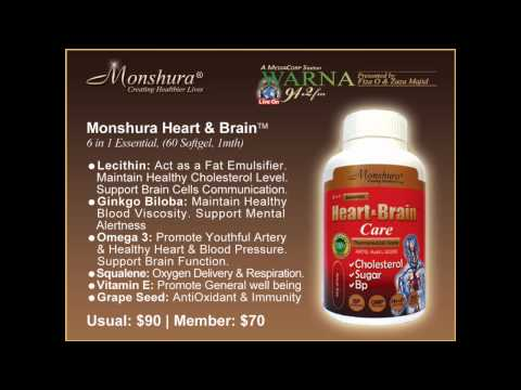 Monshura 6 in 1 Heart and Brain Care - Singapore Radio Advertisement (Warna 94.2FM)