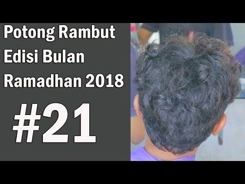 CARA POTONG RAMBUT KERITING paling MUDAH & sederhana ( Step by step ) 2018