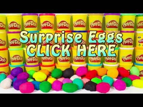 Play Doh Surprise Eggs Peppa Pig Frozen Mickey Mouse Spiderman Minnie Masha Disney Huevos Sorpresa