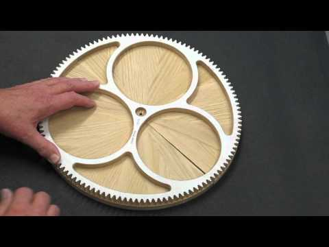 Solaris Clock - Segmented Wood Wheels