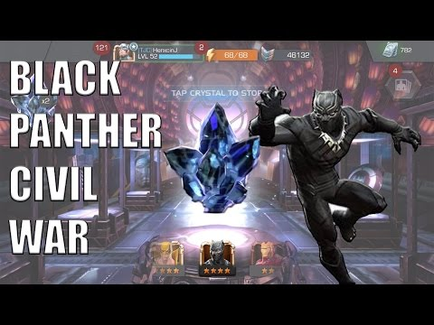 Marvel Contest of Champions | 9 CIVIL WAR BLACK PANTHER CRYSTALS!