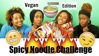 Spicy Noodle Challenge | Vegan Edition | Can We Sing After Eating? | 3B4JOY